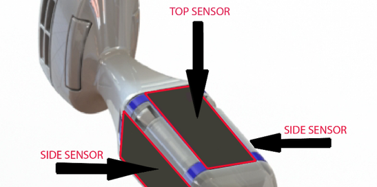 sensor locations on the PeriCoach