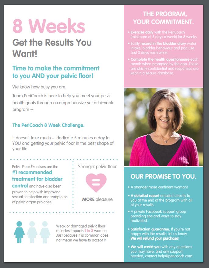 8 Week Challenge Flyer