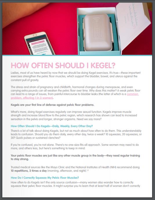 how often should I kegel document download